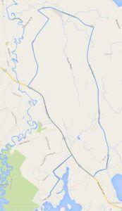 Sebago Lake Bike Course Map Image