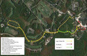 Sebago Lake Triathlon Run Course