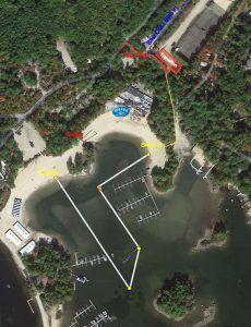 Sebago Lake Sprint Swim Course