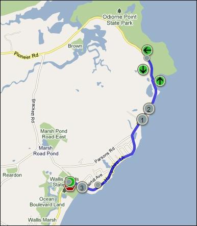 Wallis Sands Triathlon Run Course