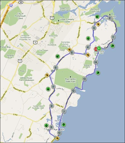 Wallis Sands Triathlon Bike Course